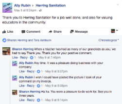 Facebook Testimonial from Ally Rubin