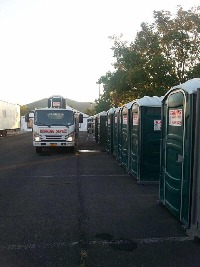 Herring Portable Toilets support Gap after Fire
