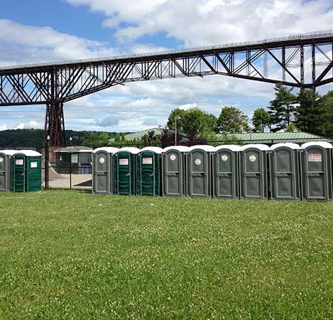 Portable Toilets at the Future Park Site at the Foot of the Walkway Over the Hudson - Click Here for Portable Toilet, Portable Sink Information, Options and Reservations